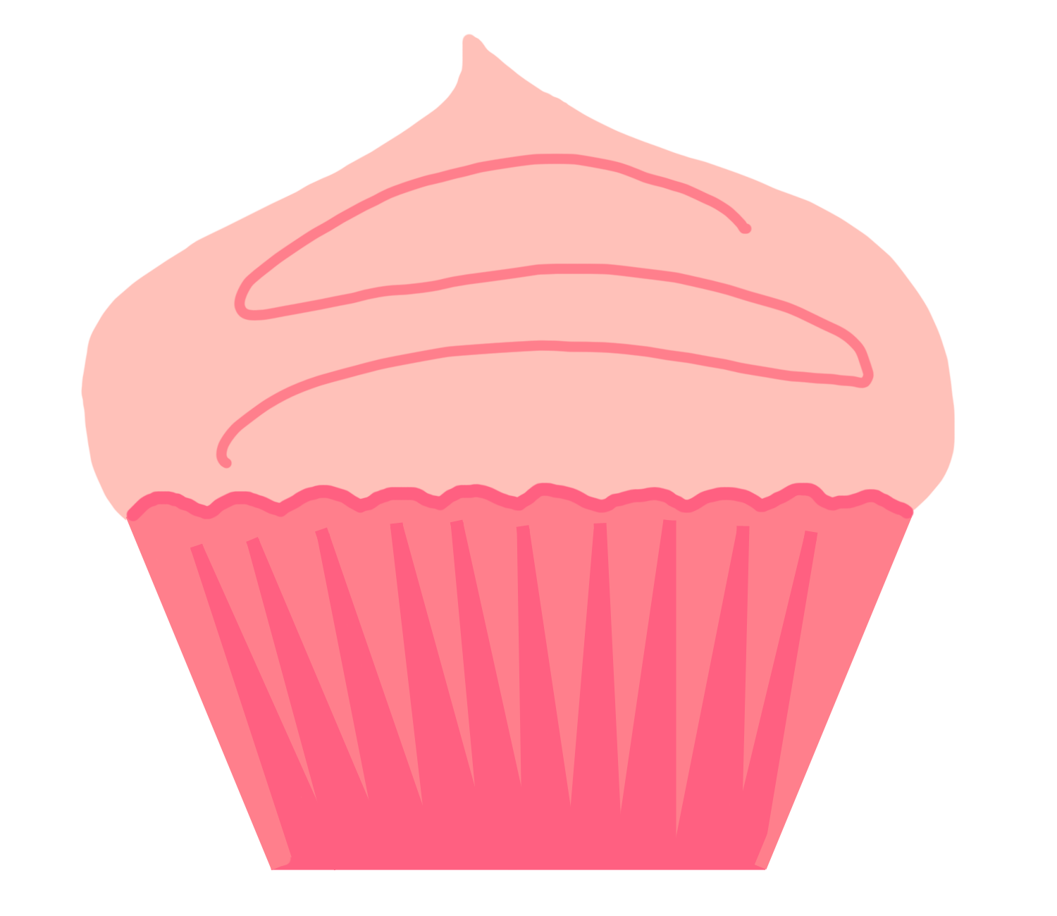 1500x1300 Polka Dot Bottom Cupcake Outline Clipart 3