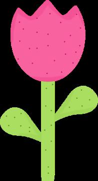 196x361 Spring Polka Dot Tulip Clip Clipart Panda