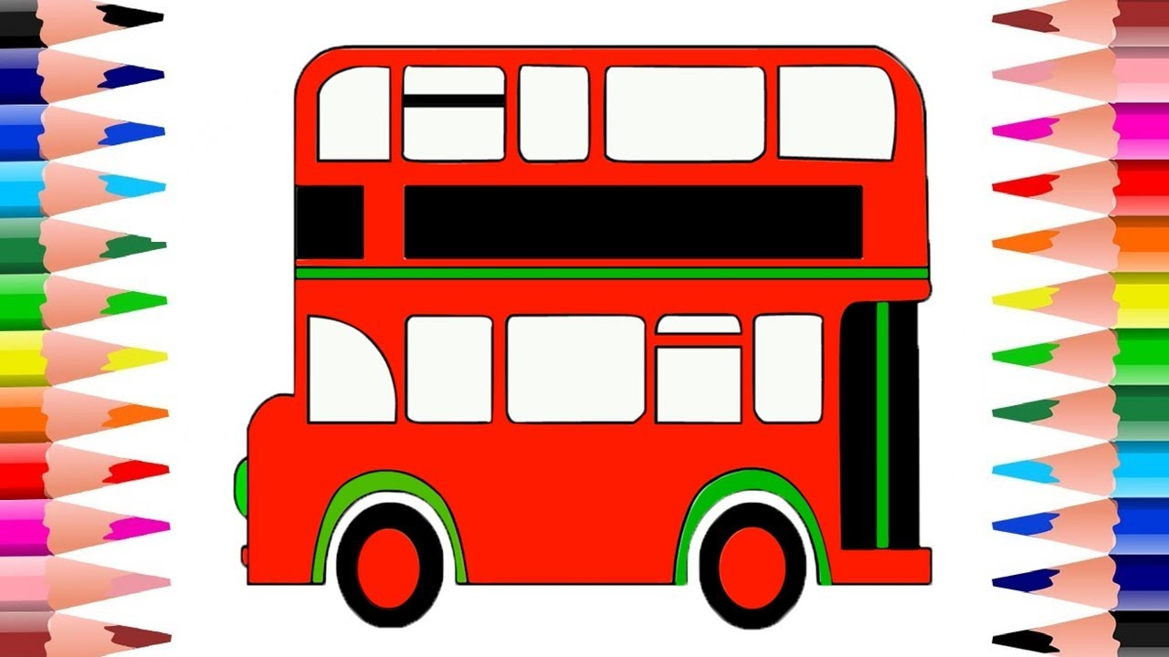 1280x720 Double Decker Bus Colors Double Decker Bus Coloring Pages How