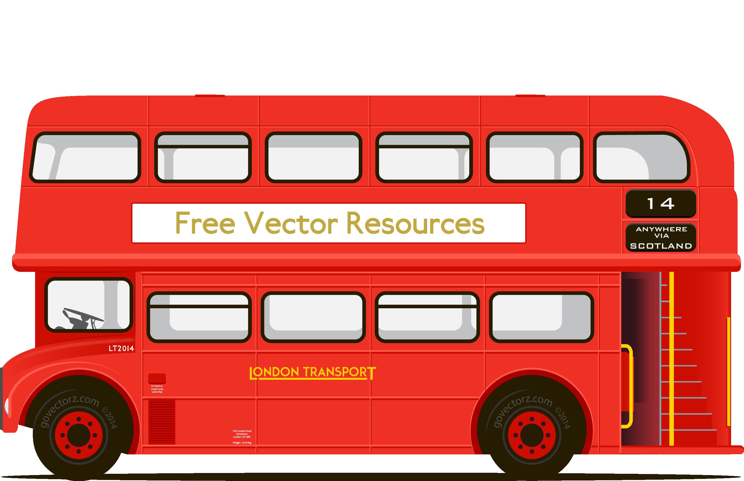 2883x1863 Double Decker Bus Clip Art