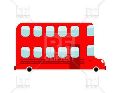400x323 Double Decker Cartoon Bus Royalty Free Vector Clip Art Image