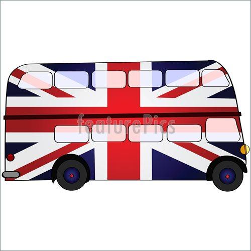 500x500 Uk Double Deck Bus Illustration