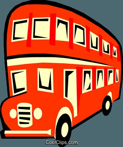 402x480 Double Decker Bus Royalty Free Vector Clip Art Illustration