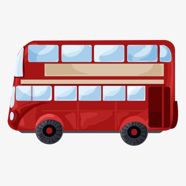 650x650 Car Double Decker Bus, Double Decker Bus, Transportation, Cartoon
