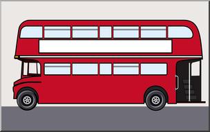 304x192 Clip Art Double Decker Bus Color I Abcteach