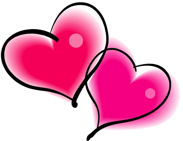 599x460 Double Pink Heart Png