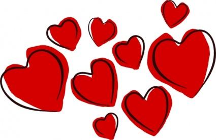 425x276 Loveheart Clipart