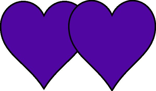 600x349 Purple Double Heart Clip Art