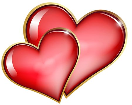 450x360 Smiley Clipart Red Heart
