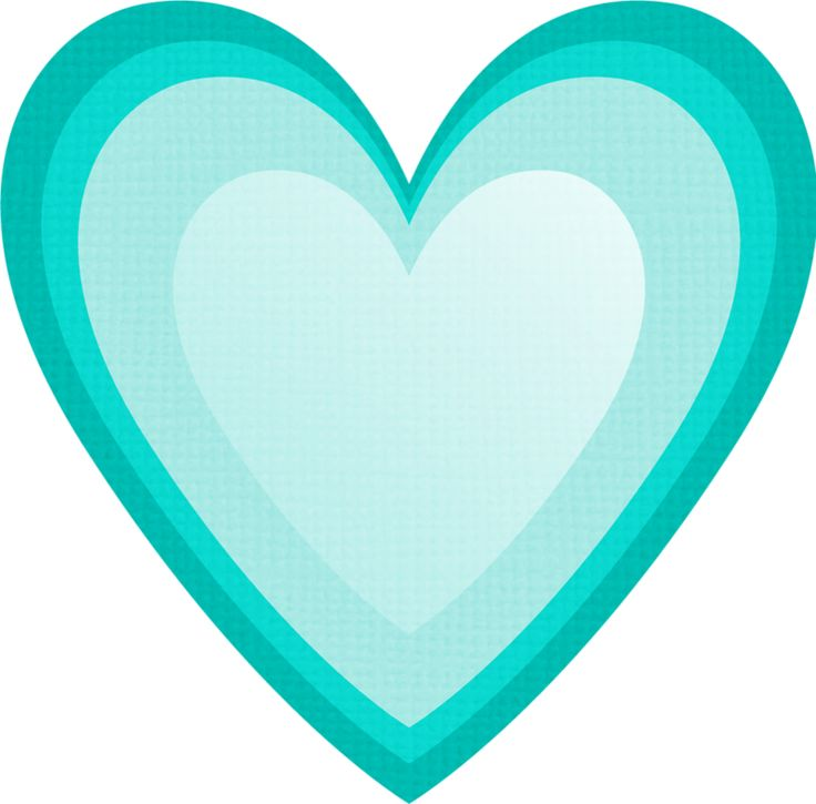 736x725 Teal Clipart Cool Heart'81717