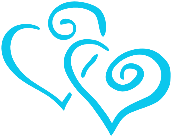 600x481 Teal Double Heart Clipart Embroidery Teal, Clip