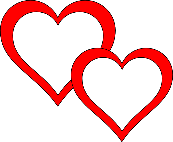 600x495 Double Heart Clipart Two Hearts Clipart Clipart Panda Free Clipart