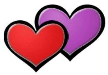 350x244 Lovely Double Heart Clip Art