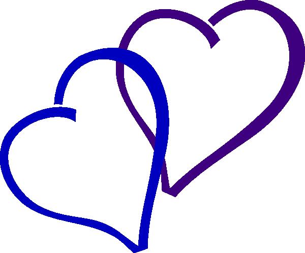 600x498 Blue And Purple Heart Clip Art
