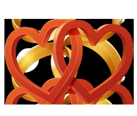 464x393 Broken Heart Clipart Double Heart Wedding
