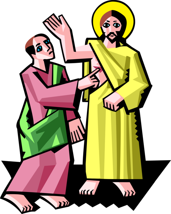 560x700 Jesus Christ With Doubting Thomas