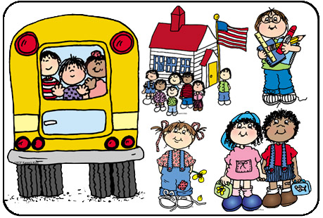 459x310 School Days Clip Art