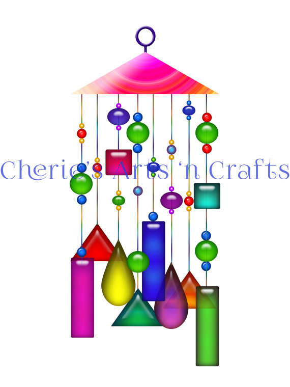 570x760 Clip Art Single, Windchime, Windchimes Graphics, Windchime Clip