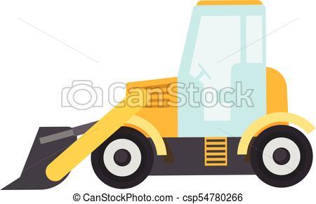 450x291 Bulldozer Icon, Flat Style. Bulldozer Icon. Flat Clip Art