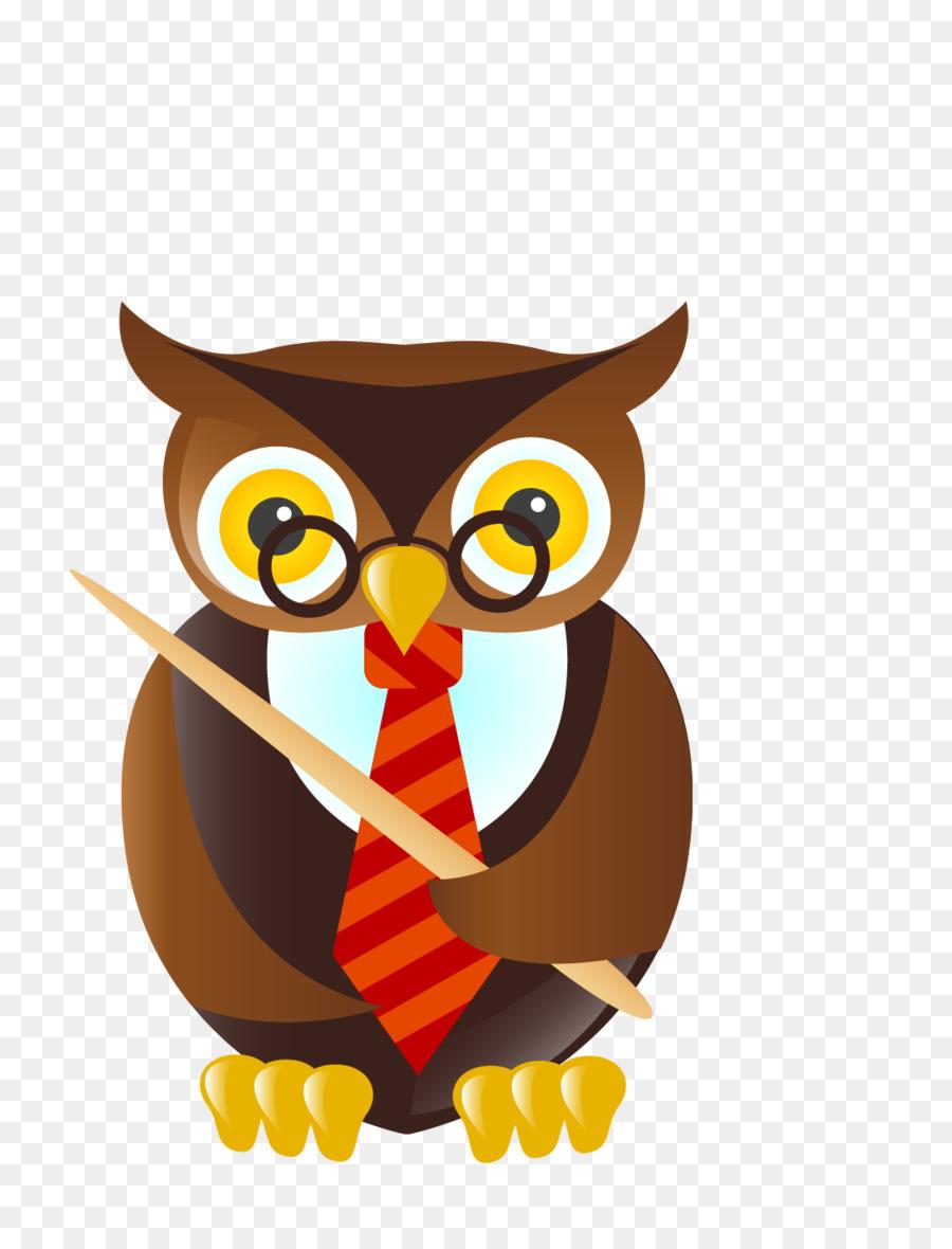 900x1180 Owl Student Teacher Cartoon Clip Art