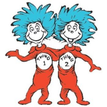 350x350 Dr Seuss Coloring Pages Thing 1 And Thing 2 Clipart Panda