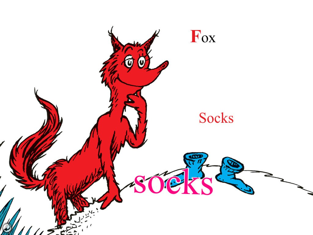 1024x768 Dr Seuss Fox In Socks Coloring Pages
