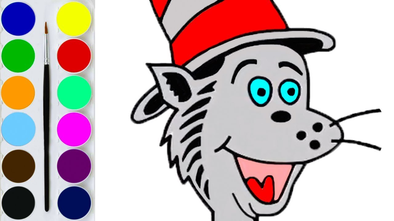 1280x720 How To Draw Dr. Seuss Characters Coloring Pages And Drawing