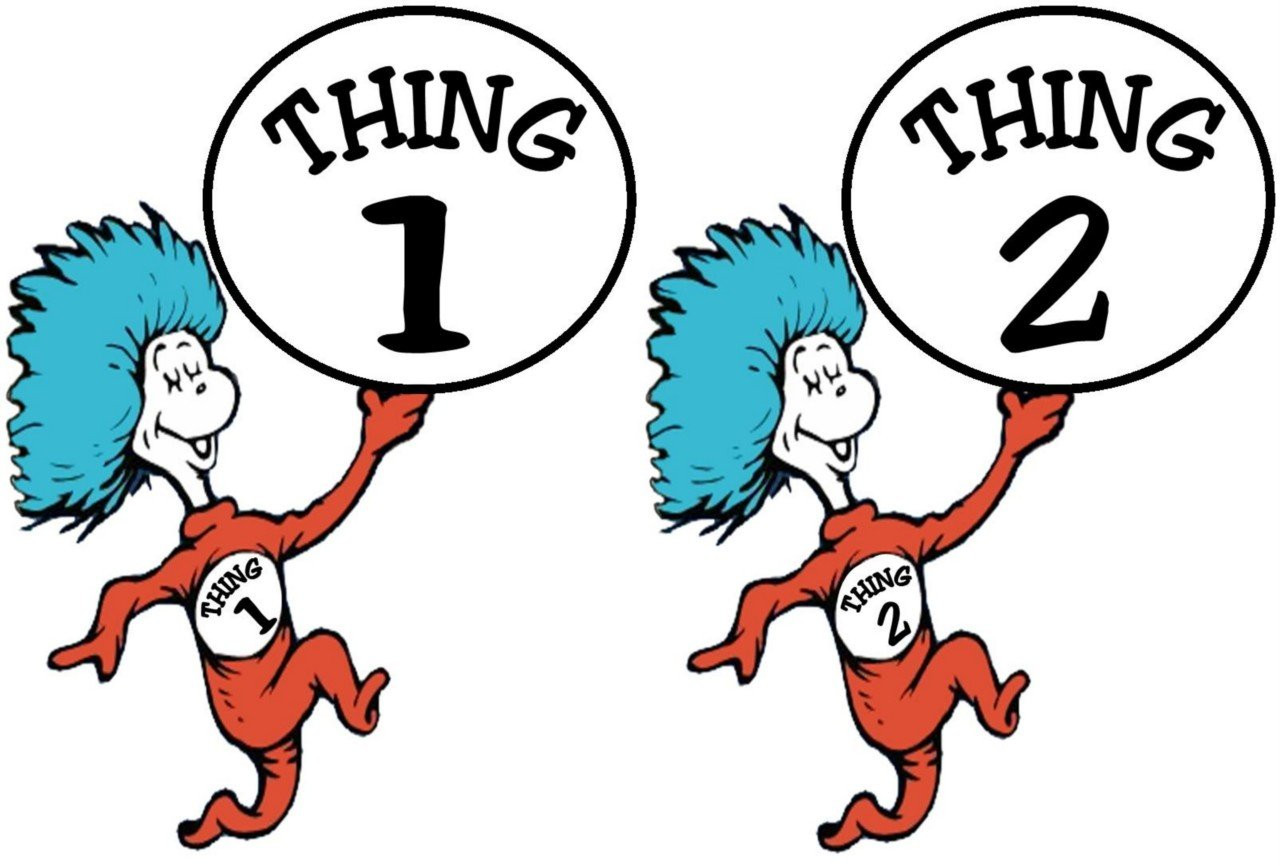 1280x866 Imagination Thing One And Two Coloring Pages Sturdy Dr Seuss 1 2
