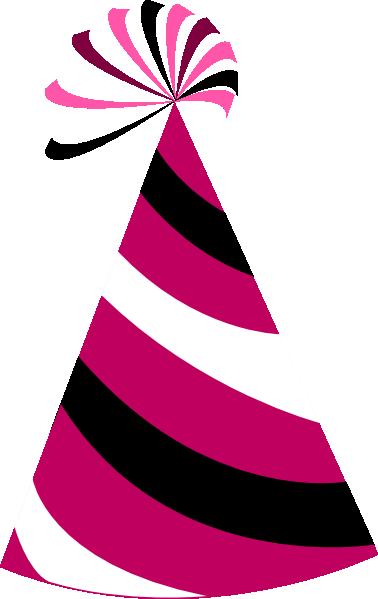 378x599 Pink Birthday Hat Clip Art