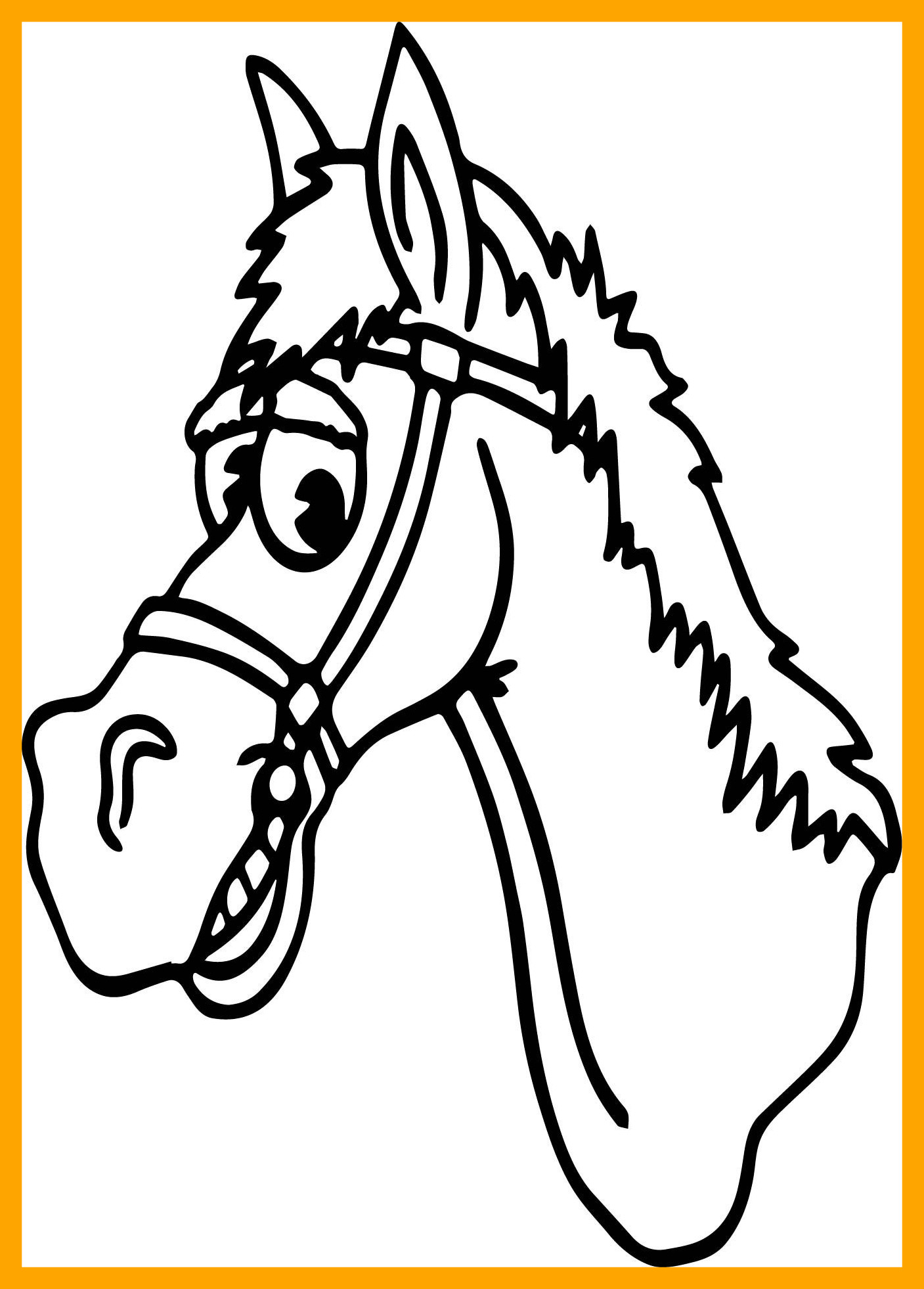 1407x1962 Awesome Horse Line Drawing Clip Art At Getdrawings For Personal