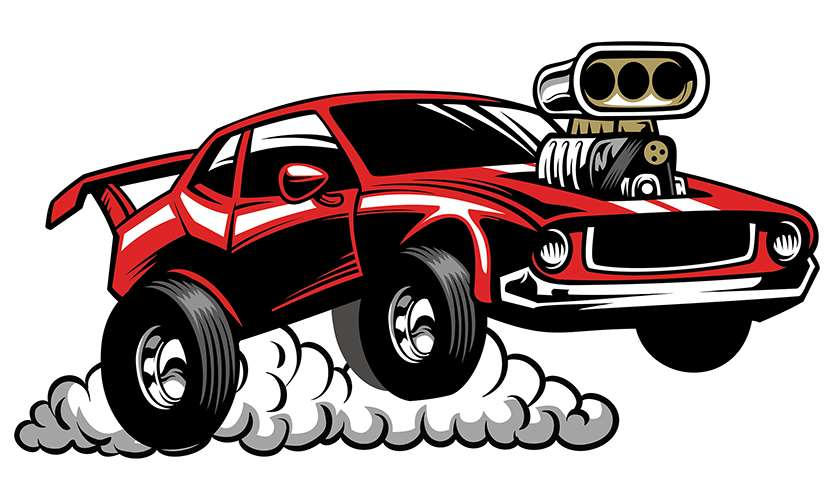Drag Car Clipart