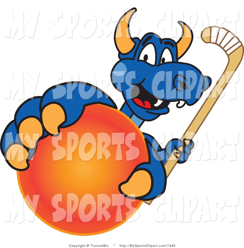 1024x1044 Sports Clip Art Of A Dragon Mascot Grabbing A Field Hockey Ball By