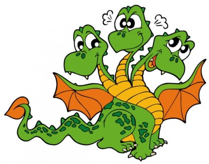 425x333 Clipart Dragon Free