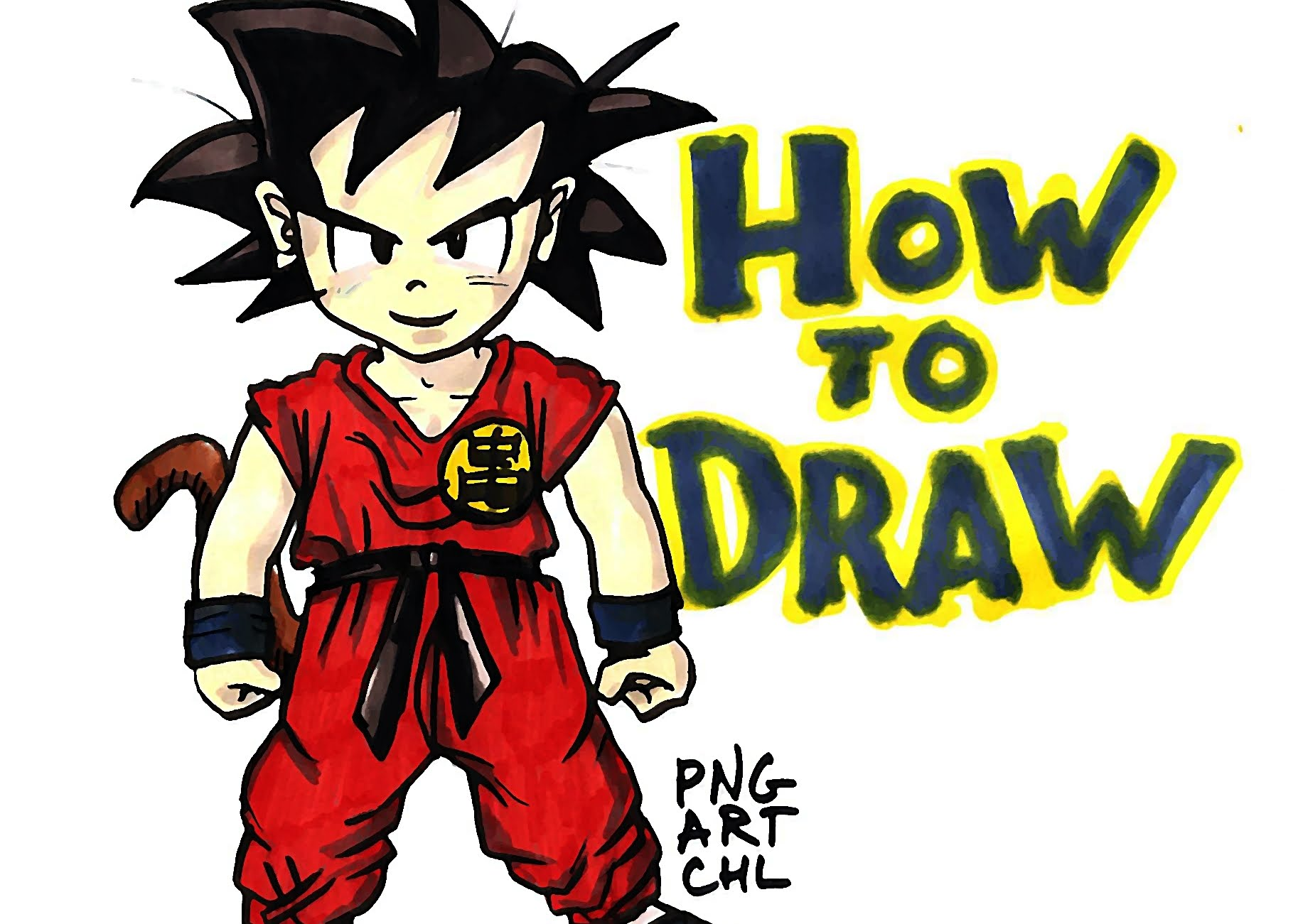 1819x1301 How To Draw Gohan From Dragon Ball Z