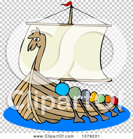 450x470 Clipart Viking Dragon Ship With Oars