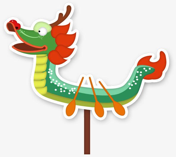 592x531 Cartoon Dragon Boat, Flattened, Dragon Boat, Cartoon Png Image