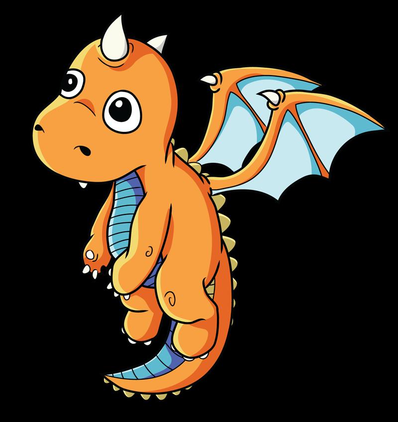 800x848 Free Cartoon Baby Dragon Clip Art