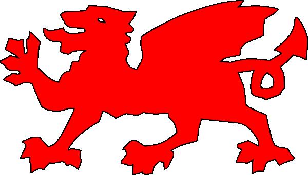 600x342 Welsh Dragon Red Clip Art