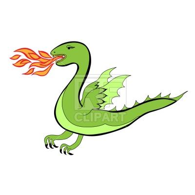400x400 Cartoon Dragon Royalty Free Vector Clip Art Image