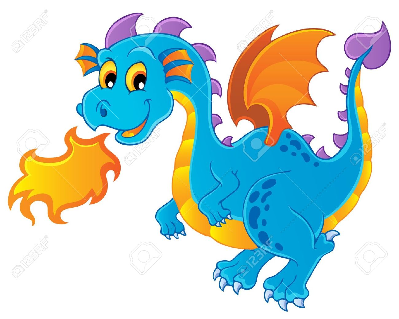 1300x1039 Clip Art Cartoon Dragon Clip Art