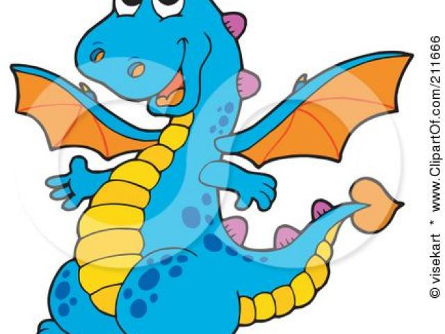 640x480 Blue Dragon Clipart