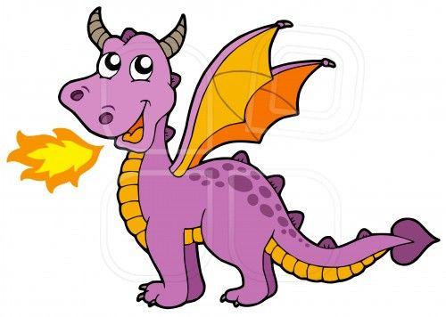 500x356 Cute Cartoon Dragon Breathing Fire Cute Small Dragon By Klara
