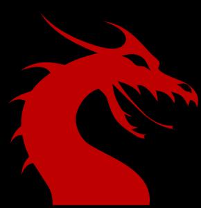 290x300 Dragon Face Clipart Dragon Head Silhouette Red Clip Art