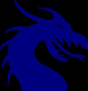 288x298 Dragon Head Blue Clip Art