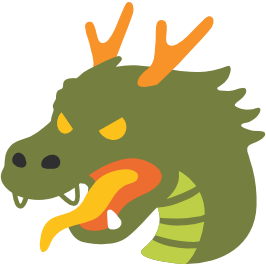 266x266 Emoji Android Dragon Face