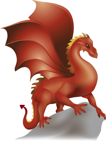 340x451 Scary Clipart Dragon
