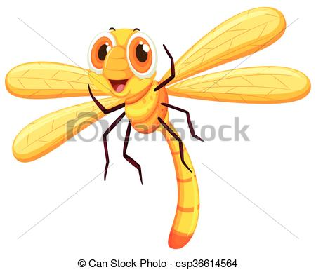 450x385 Yellow Dragon With Cute Face Illustration Clip Art Vector