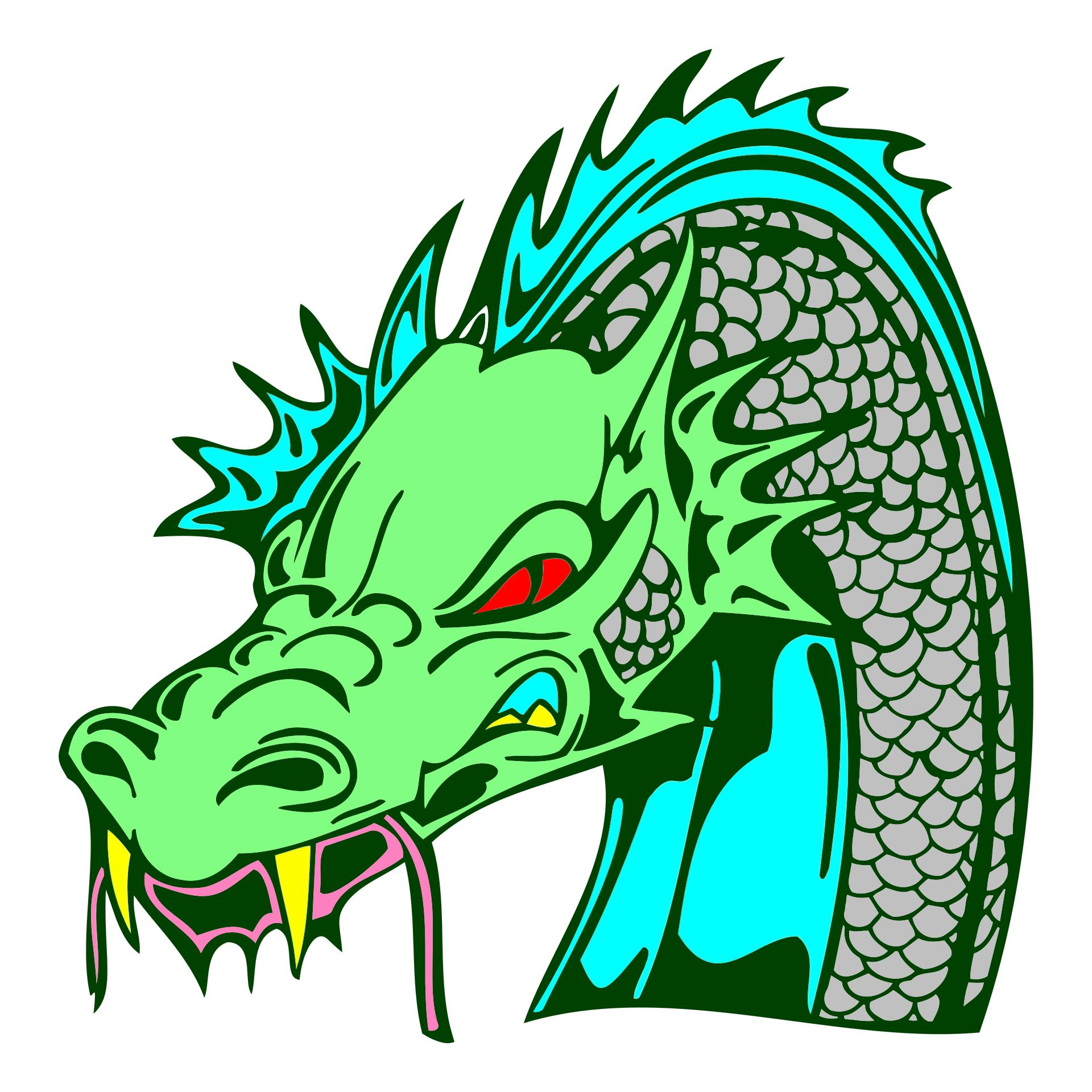 1920x1920 Angry Green Dragon Clipart