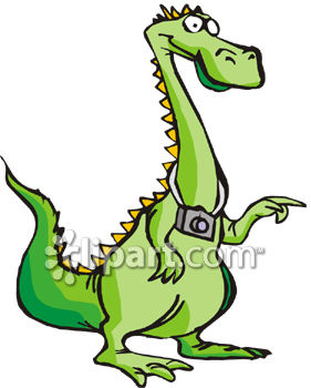 281x350 Royalty Free Clipart Image A Dragon With A Camera