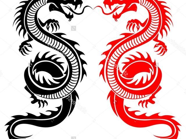 640x480 Chinese Tribal Dragon Tattoo Chinese Tribal Dragon Tattoo